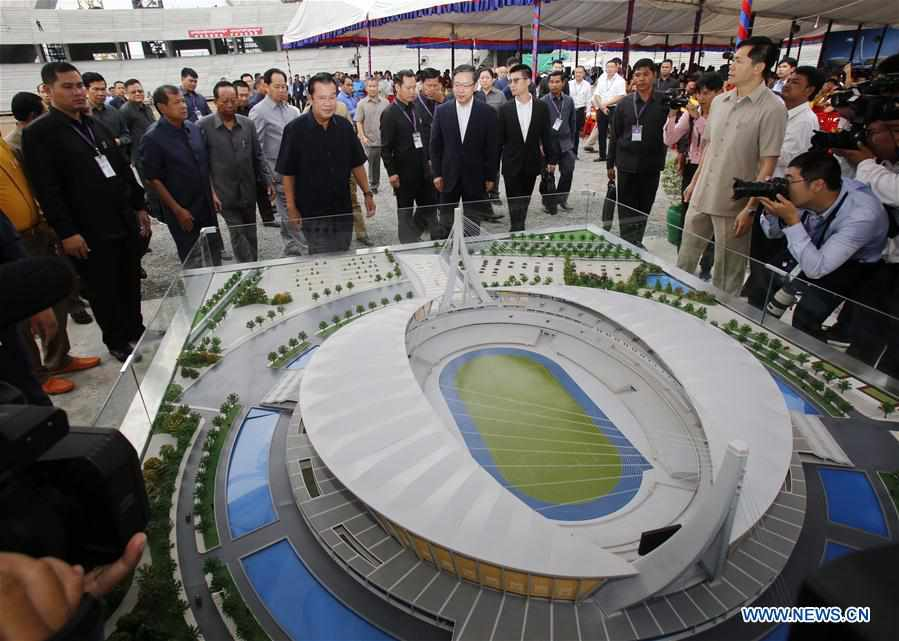 China-aided stadium in Cambodia symbolizes friendship