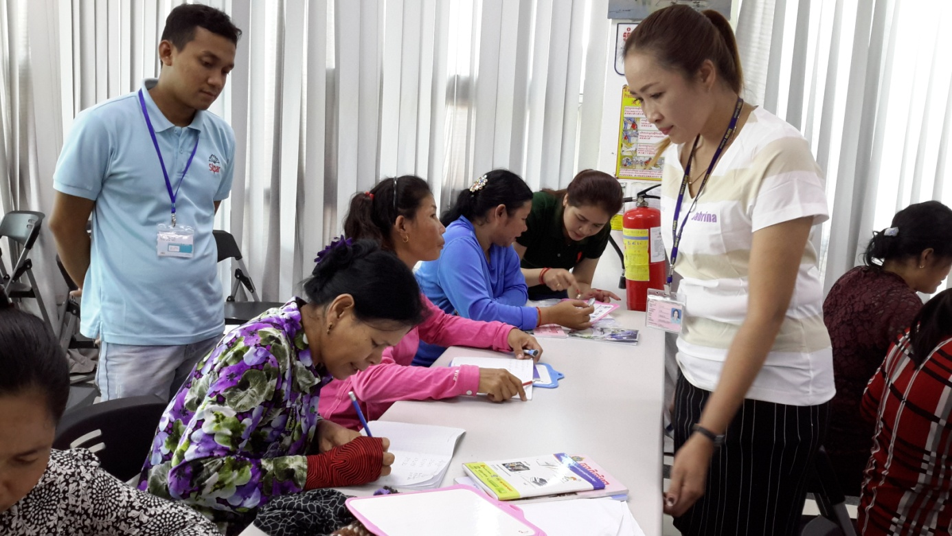 "Good Practice on ""Factory Literacy Program in Cambodia"""