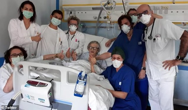 A 95-year-old grandmother becomes the oldest person to recover from coronavirus