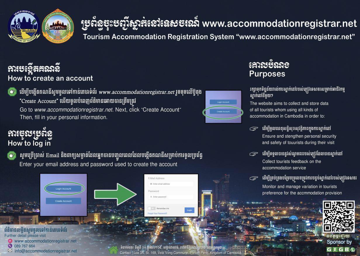Tourism Accommodation Registration System launched to prevent COVID-19 spread