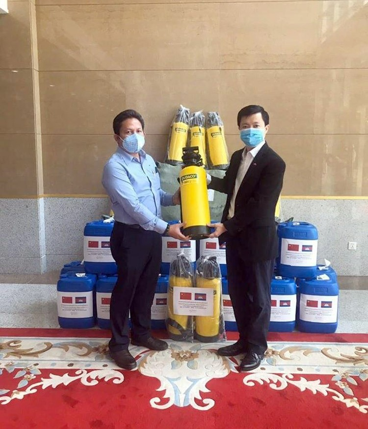 Chinese Embassy Donates Materials For Preventing COVID-19 To SSCA