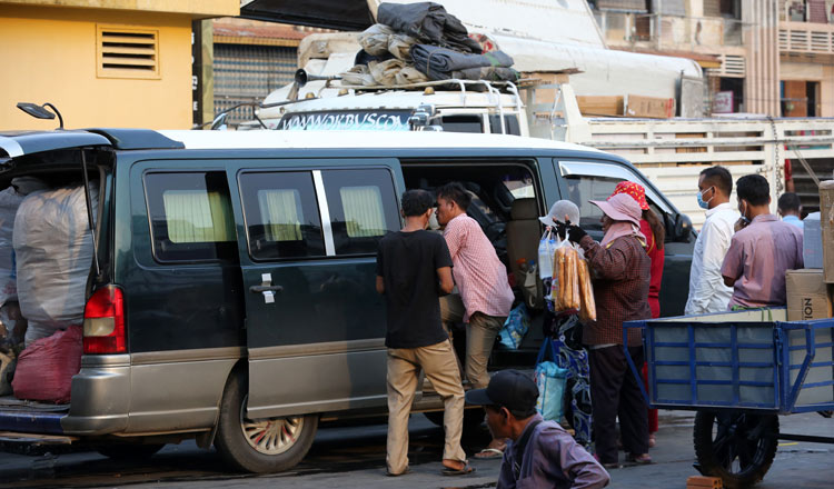Cambodians get ready to travel to be with their families for Khmer New Year. KT/Chor Sokunthea.