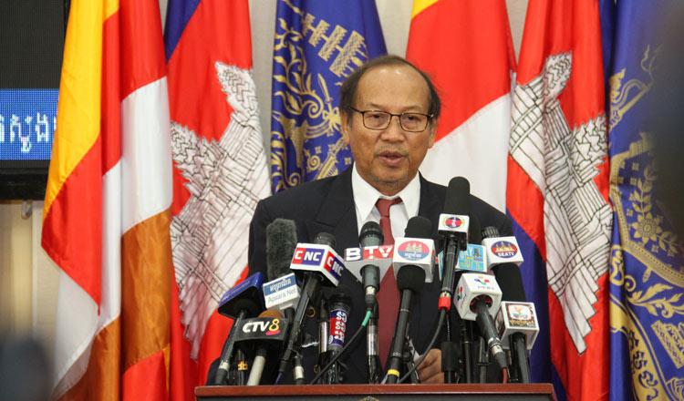 Government spokesman Phay Siphan. KT/Khem Sovannara