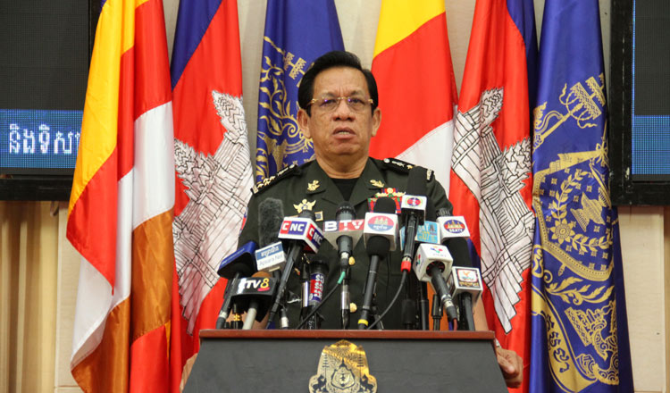 Defence Ministry spokesman General Chhum Socheat. KT/Khem Sovannara