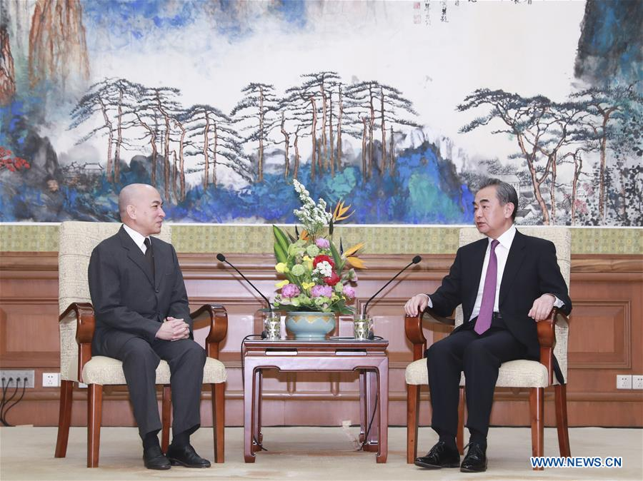 Chinese State Councilor visits His Majesty Norodom Sihamoni in Beijing