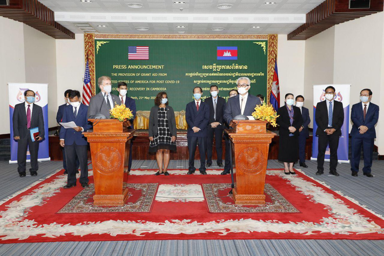 U.S. Extends US$7.5 million for Cambodia's Response and Recovery from COVID-19