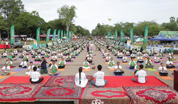 Indian Embassy holds Yoga week