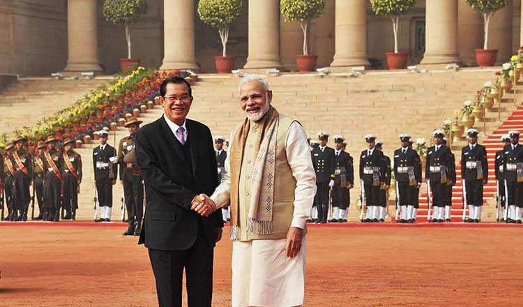 Indian PM Modi has telecom with PM Hun Sen