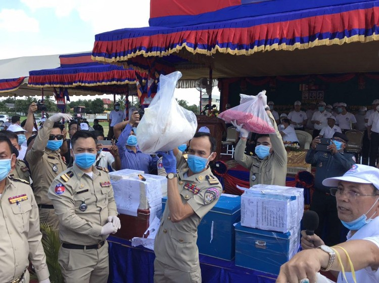 Destruction Ceremony Of Confiscated Drugs In Battambang Province