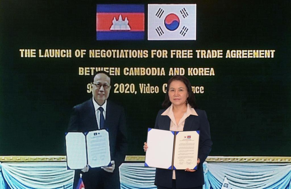 S. Korea, Cambodia to expand export portfolio in 2nd round of free trade talks