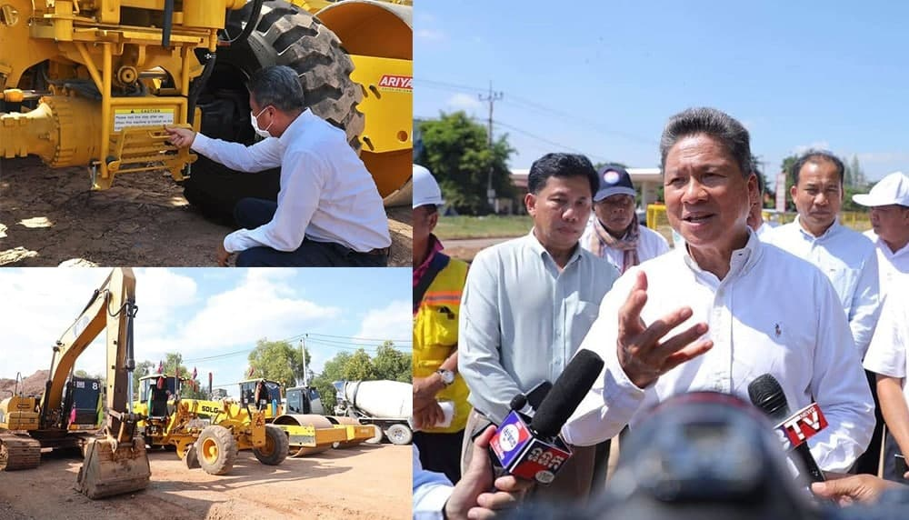 Construction Of 38 Road Infrastructure Project In Siem Reap Will Start In Late November Under The Presidency Of Cambodian Premier