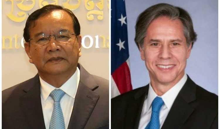 Cambodia's top diplomat congratulates his American counterpart