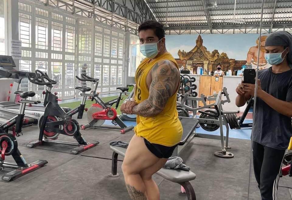 Cambodian bodybuilders train and prepare locally ahead of 2021 SEA Games