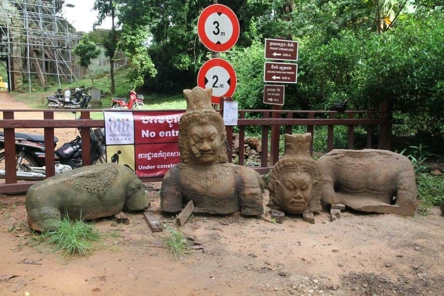 Ancient Statues and Other Relics Discovered at Takav Gate