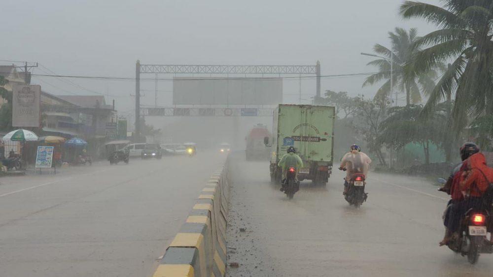 Heavy rain in the kingdom this week