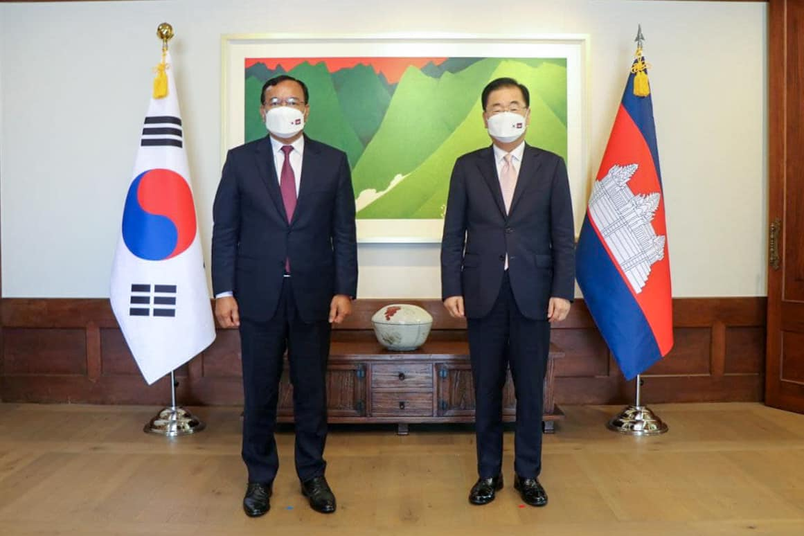 Foreign Ministers of S. Korea, Cambodia Discuss ODA, Pandemic