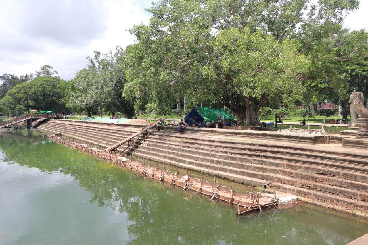 APSARA National Authority restors Angkor Wat's western embankment